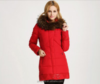 women knee length winter formal downs coat