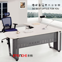 Customize Design Wooden MFC Office Table Executive Office Desk With Wire Manager System