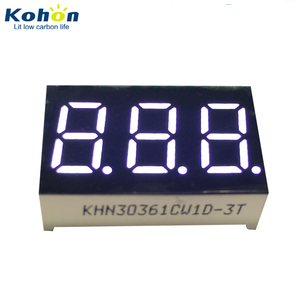 Hot selling triple digit 0.36inch common cathode white color 7 segment LED digital display