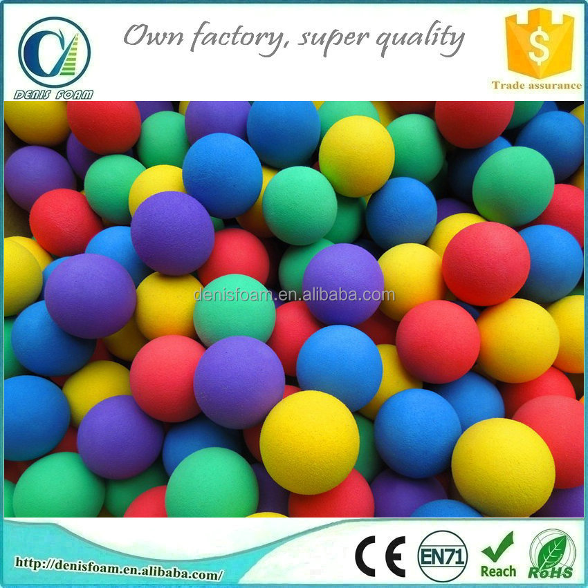 Hot sell high density foam balls abundant colors and sizes