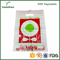 Pattern fashion d2w totally foldable oxo biodegradable shopping bag