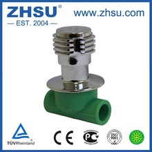 2017 ZHSU ppr pipe fittings stainless steel dark valve stop valve