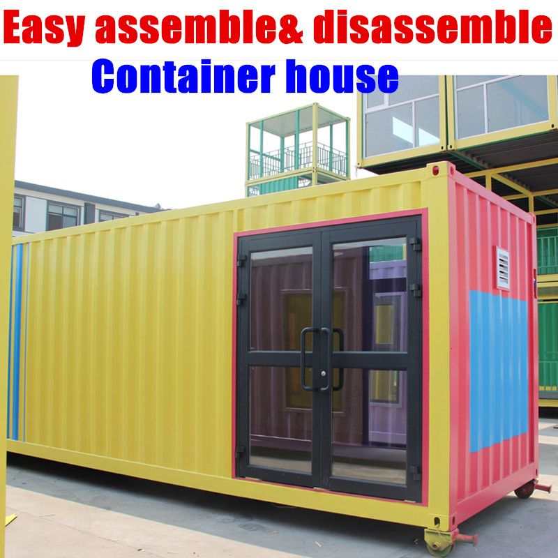 Low Cost Prefab Trailer House Very Cheap 4 Container Houses