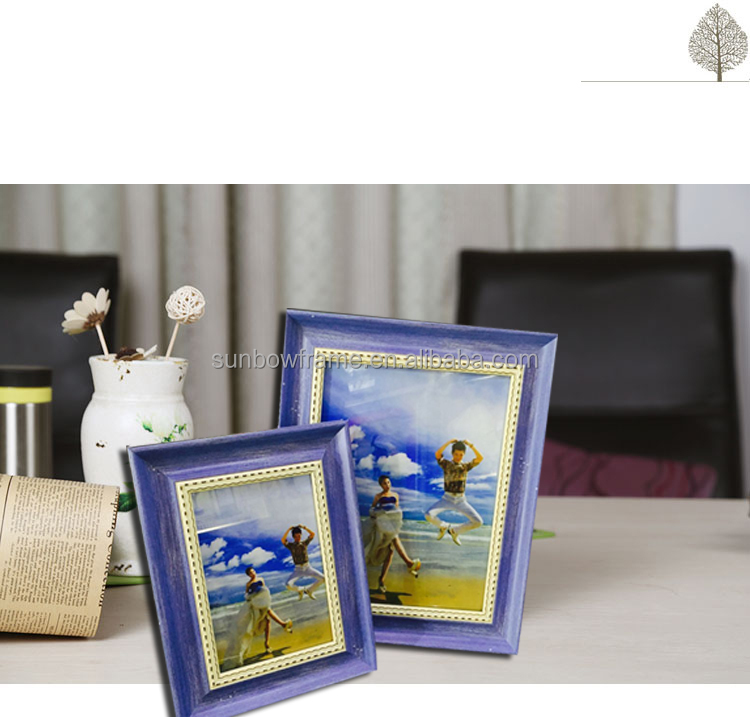 2016 New Design New Design Hot Sale Home Decoration Glass Material and Photo Frame Type decorative frame