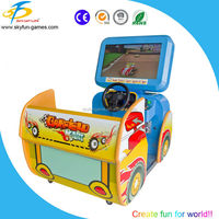 Family go kart simulator arcade video game machine for kids/coin operated racing car machine