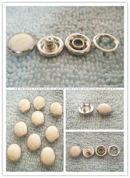 pearl-head pronged snap button-333#