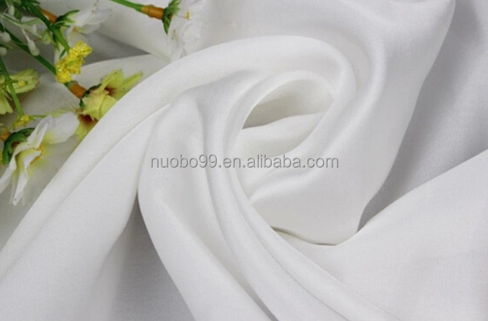 5mm 100% white silk chiffon fabric for scarf and garment pure silk chiffon fabric
