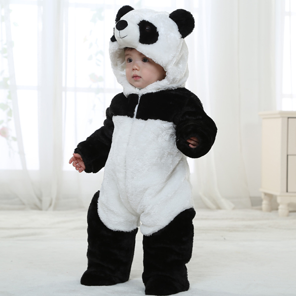 MS61648C winter cute animal design baby clothes baby panda costume