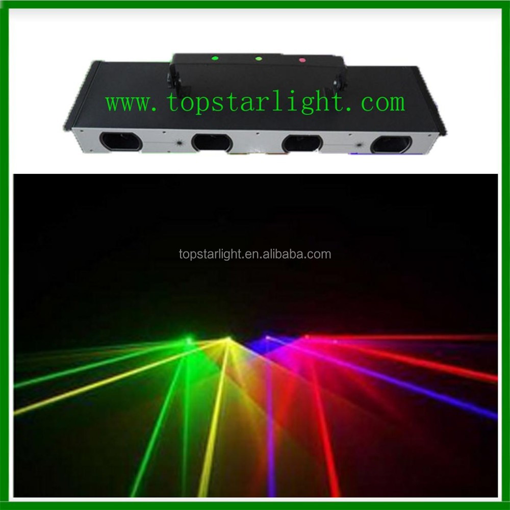 2016 dj led light low price promotion stage laser light 4 head rgby color laser on china market