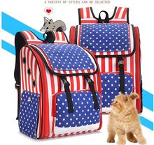 RoblionPet Pet Dog Backpack Shoulder Puppy Pack Outdoor Travel Carrier for Pet Cat Rabbit bag Pup Cage Breathable Mesh Window