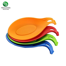 BPA free Silicone Spoon Rest Heat Resistant Kitchen Utensil Spatula Spoon Holder