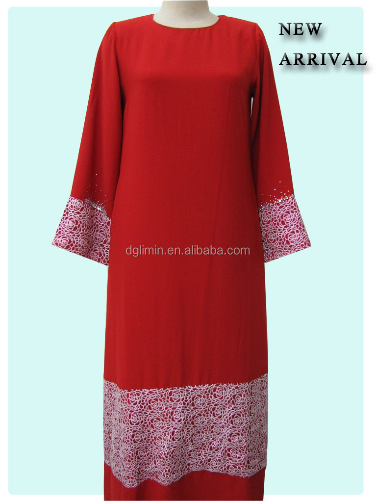 Wholesale Abaya Ethnic Clothing Red Dress Latest Abaya Designs 2015