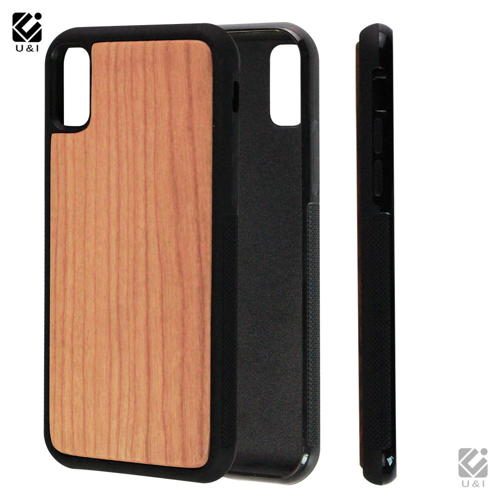 2019 Newest Full Protective Wooden TPU Blank Phone Case For iPhone X New Products Custom Blank Mobile Phone Cover