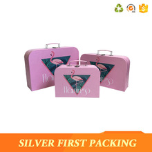 High quality custom printed cosmetic suitcase shaped paper gift boxes