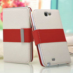 best quality leather book case for samsung galaxy note 2, case for n7100, cover case for samsung galaxy note2 n7100