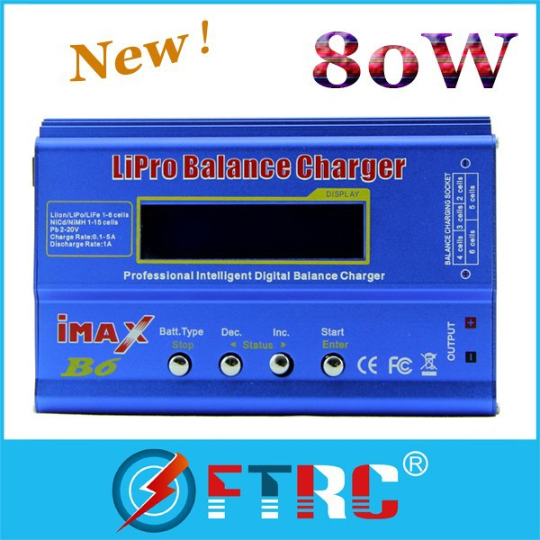 80W IMAX B6 Digital RC Lipo NiMh Battery Balance Charger AC POWER 12V 5A Adapter 2S-6S 7.4V-22.2V