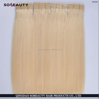 Alibaba Qingdao Wholesale 100% Top Quality Full Cuticle Remy European Grey Human Hair Weaving