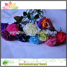 single stem real touch artificial rose flowers wholesale