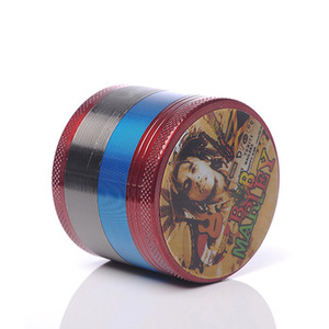 wholesale custom logo crusher high quality luxury 4 pieces layer manual hand metal smoking tobacco weed herb grinder