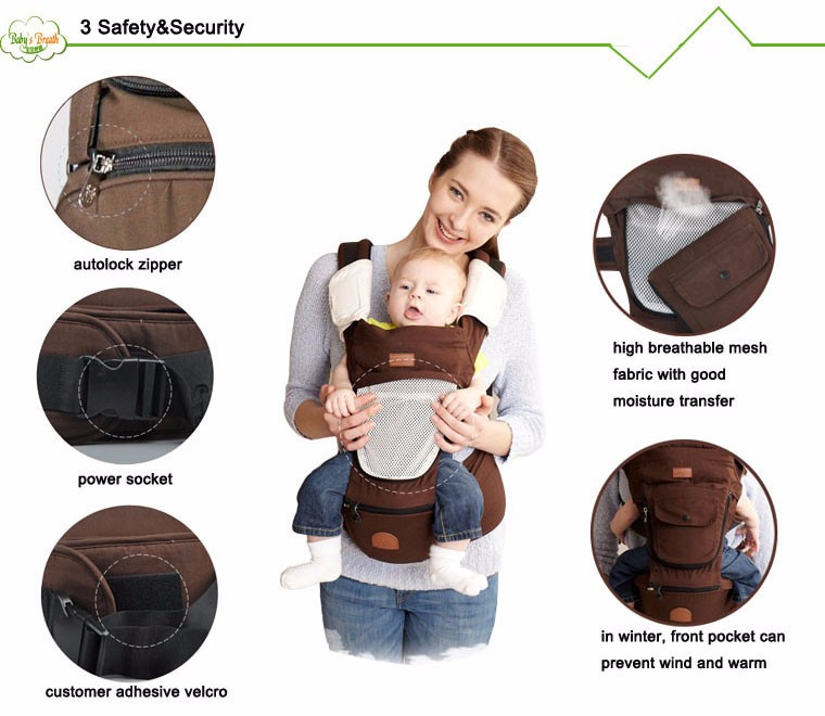 BC04 Organic Cotton Baby Kangaroo Baby Carrier