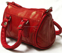 Tiny Genuine Leather Sling Purse Red Handbag Shoulder Bag Pouch Satchel New, Genuine leather purse