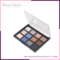 Custom logo 12 Color Makeup Eyeshadow Palette for Cosmetic Use