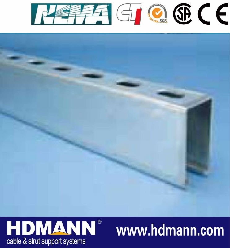 Perforated Shape Struct Galvanized Steel C Channel For Construction
