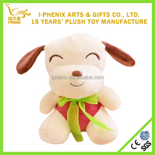 Cute little puppy dog animal stuffed plush toys with embroidery logo