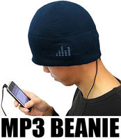 iHat - MP3 Beanie Hat With Built In Headphones (Navy Blue),promotional winter acrylic knitted beanie caps and hats