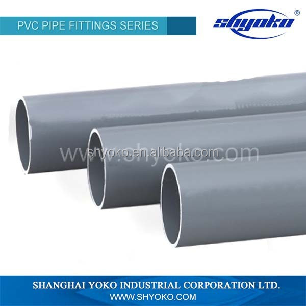 Shanghai manufacturer anti-aging upvc/pvc cheap price plastic pipe