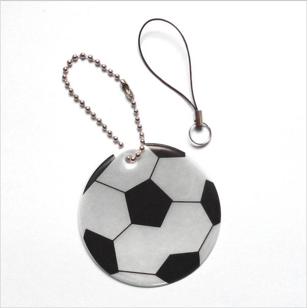 FOOTBALL model Reflective pendant Reflective keychain reflective keyrings for visible safety ,Be seen Be safe