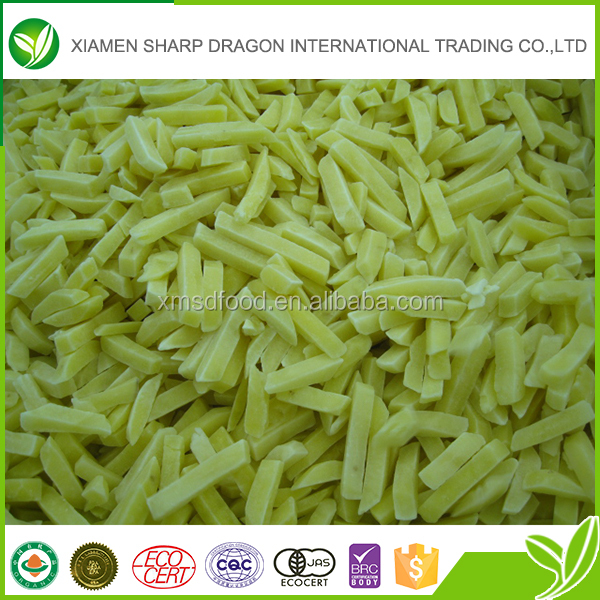 Top sale delicious IQF frozen potato chips made in China
