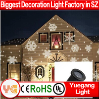 White Snowflake LED Projection Christmas Holiday Light outdoor use
