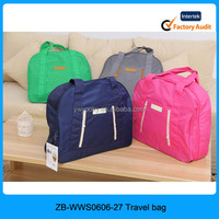 4 colors can choose big volume korean style foldable solid color women plain duffel bag