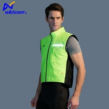 Night run cycling reflective safety wear with light LED vest