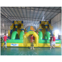 2016 amusement park use giant inflatable fun city/commercial use minion themed inflatable fun city