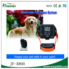 Pet dog Safe Product Electric Tone Shock Dog Run Invisible Fence with Water-Resistant and Rechargeable Collar JF-X800