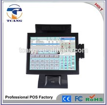 touch screen pos registratore di cassa con lcd display cliente apparecchiature pos