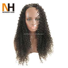 8A Grade Virgin Peruvian Human Hair Kinky Curly U Part Wig Human Hair,U Part Wigs For Sale