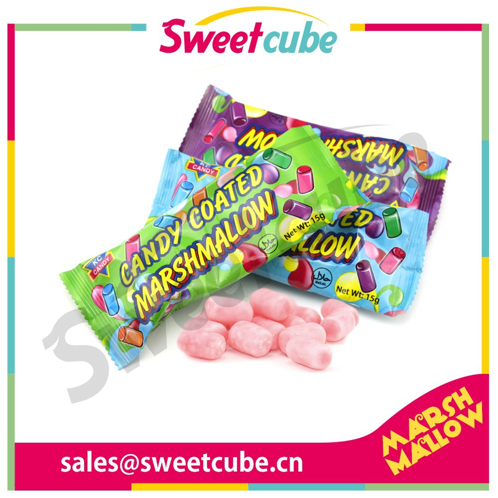 15g candy coated marshmallow for supermarket