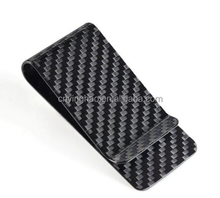 Cusom Strong Magnet Carbon Fiber Leather Money Clip for men