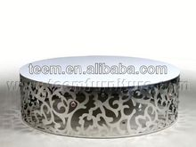 2014 Divany neo-classical coffee tables with casters round coffee table LS-840