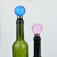 Bottle decorative colorful crystal wine stopper