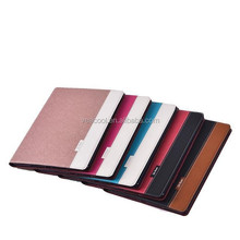 Cross Patternt PU Book Wallet Leather Case For iPad 6/Air 2