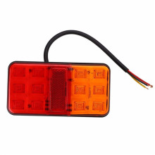 Trailer Truck Lorry Caravan 12 LED Rear Tail Brake Stop Light Indicator Lamp 10-30V