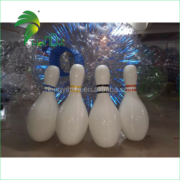Customized Giant Inflatable Bowling Pin Model / Inflatable Bowling Balls For Advertising Event