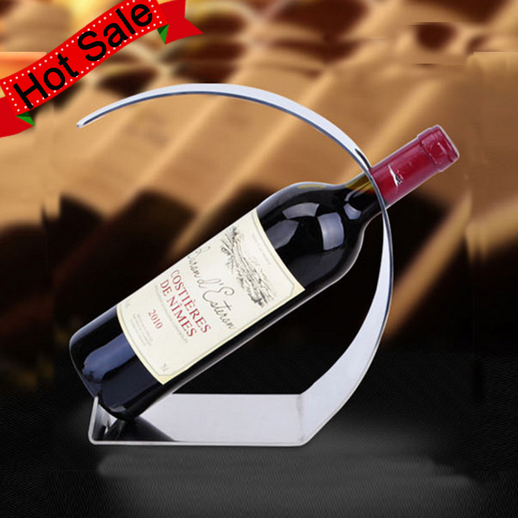 High Quality Bar Accessories Stainless Steel Single Bottle Holder Wine Rack In Guangzhou