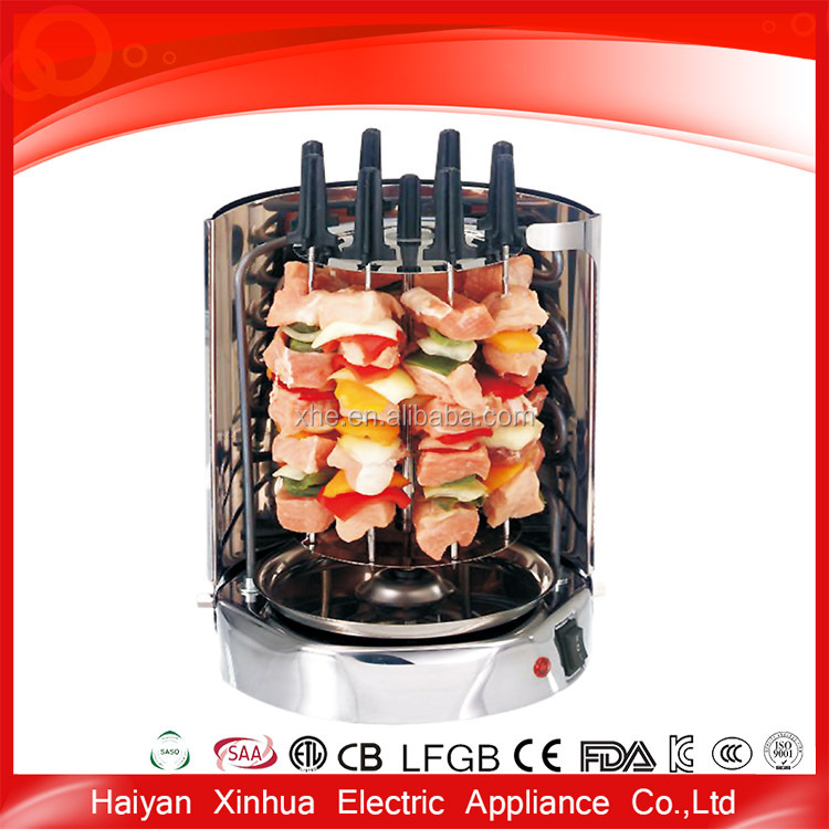 CE approved trade assured New production rotary chicken grill