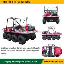 XBH 8X8-29(F) Fire-fight Vehicle 8 wheels All-Terrain fire fighting emergency equipment amphibious Vehicle ATV