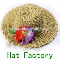 Wholesale 2015 fashion straw hat for ladies Custom 2015 fashion straw hats for ladies